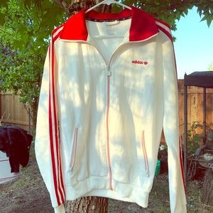 Men's white Adidas jacket